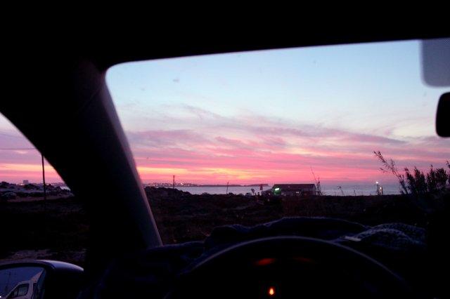 Der Blick aus dem Auto aufs Meer war es fast wert